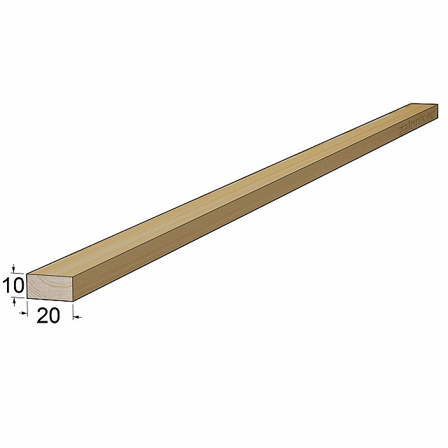 TIMBER SQUARE BEAM 10x20mm / PINE